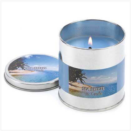 Sea Breeze Scented Tin Container Candle Home Fragrance