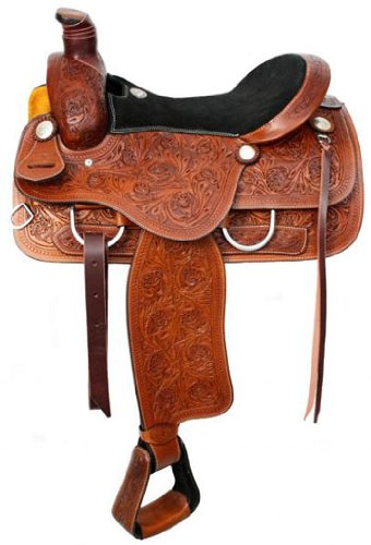 Double T Ranch Saddle With Suede Seat