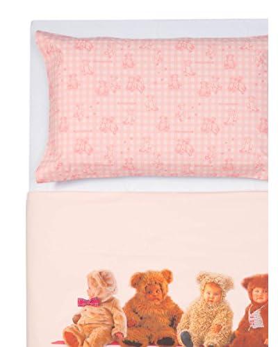 Copriletto Singolo Anne Geddes.Anne Geddes Parure Copripiumino Bears Singolo Rosa 155 X 200 Cm