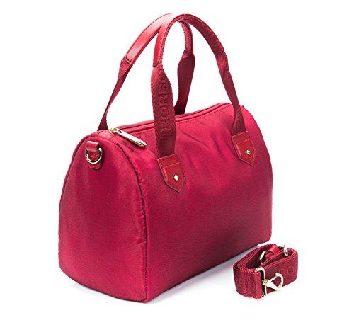 Borsa Bauletto spalla tracolla donna Luna Bag Borbonese jet op Women Satchel Bag Rosso