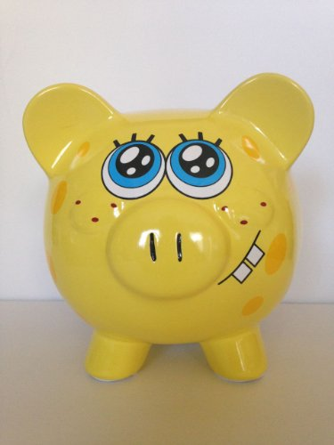 Ceramic Spongebob Squarepants Money Piggy Bank - 1