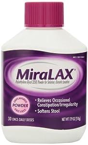 MiraLAX laxative powder, 17.9 Ounces, 30 doses