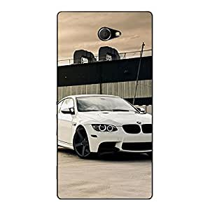 Jugaaduu Super Car BMW Back Cover Case For Sony Xperia M2