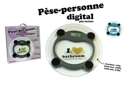 Pèse personne électronique plateau en verre jusqu'à 150 kg