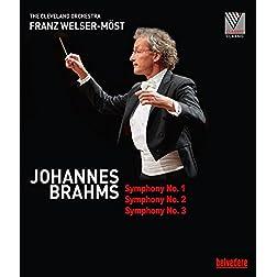 Brahms: Symphonies Nos. 1, 2 & 3 [Blu-ray]