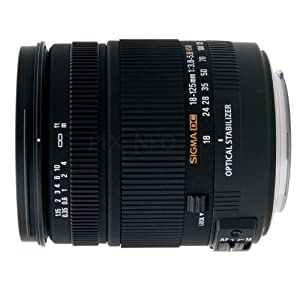 Sigma 18-125mm f/3.8-5.6 AF DC OS HSM Zoom Lens for Canon Digital SLR Cameras