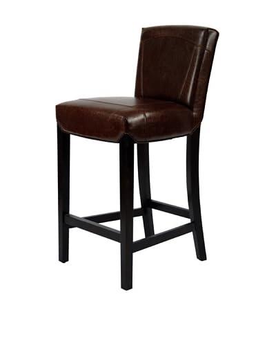 Safavieh Ken Bar Stool, Brown Leather