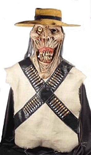 [Gunslinger Super Deluxe Halloween Mask] (Deluxe Gunslinger Costume)