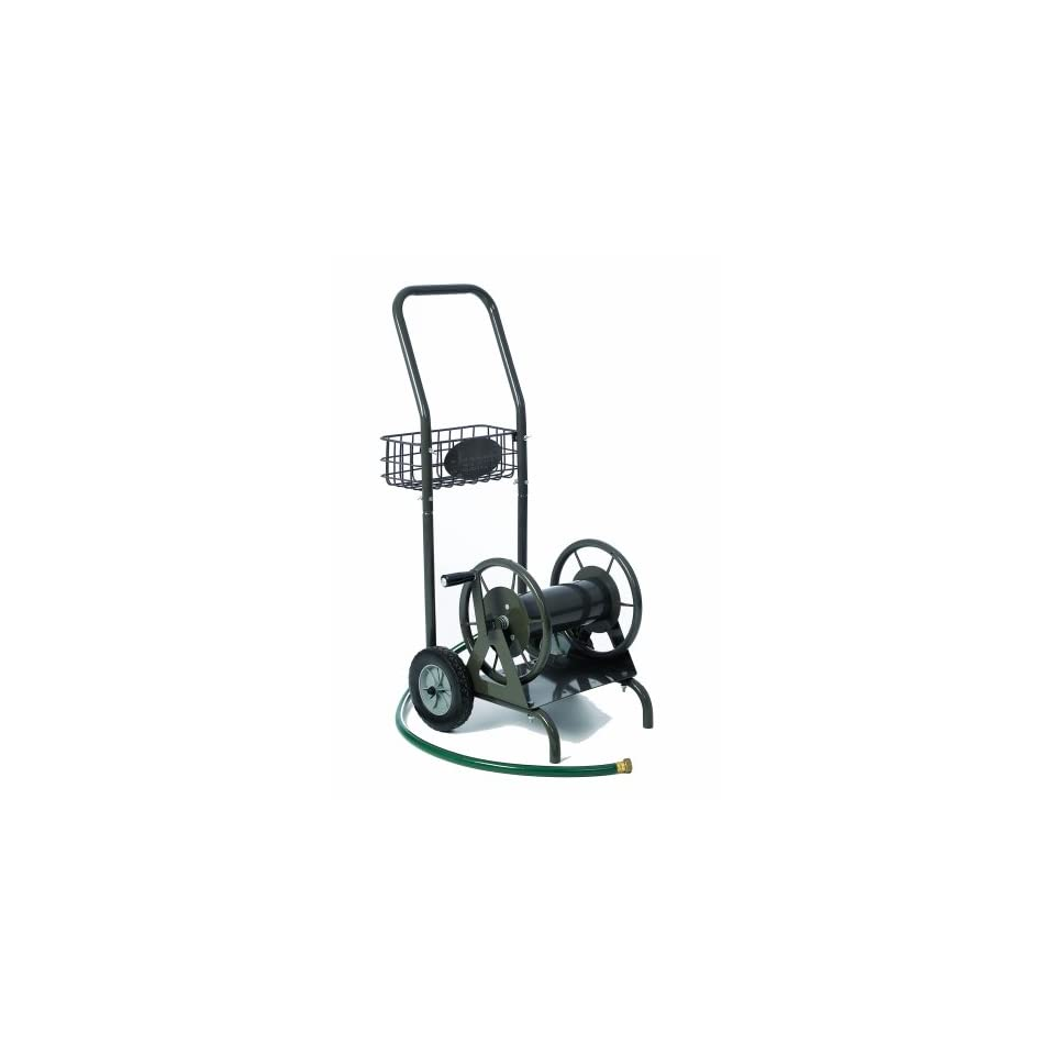 Liberty Garden Products 4 in 1 Multi Purpose Two Wheel Garden Hose Reel Cart With 100 Foot Hose Capacity 706 1 Bronze (Discontinued by Manufacturer)  Patio, Lawn & Garden