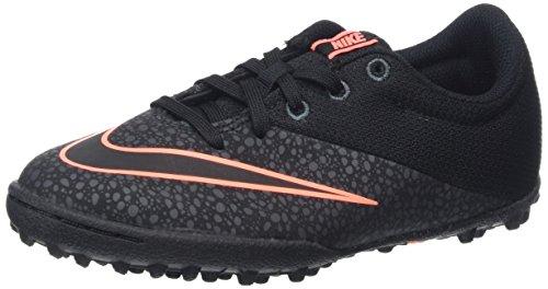 Nike Mercurialx Pro Tf - Scarpe da Calcio Unisex - Bambini, Nero (Black/Black/Anthracite/Bright Mango), 38.5 EU