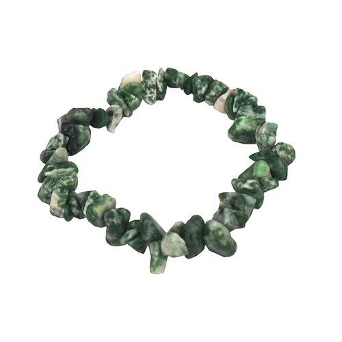 Stretch bracelet made of genuine jade gemstone