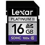 Lexar Platinum II 16 GB 100x SD/SDHC Flash Memory Card LSD16GBSBNA100