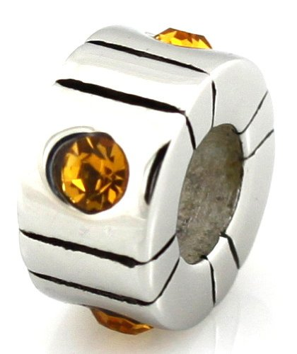 HEIRLOOM European Bead Citrine Stones Fits Pandora by Island Imports And More