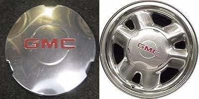 16 inch GMC Yukon Denali Sierra 1500 truck SUV Factory Original oem Wheel Polished Center Cap ONLY Hollander 5095 # 15712389 1999 2000 2001 2002 2003