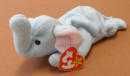 TY Beanie Babies Peanut the Elephant Plush Toy Stuffed Animal