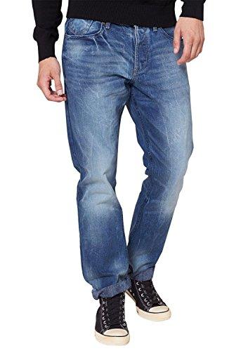 QS by s.Oliver Herren Straight Leg Jeans 40.409.71.8394, Gr. W38/ L32 (Herstellergröße: 38), Blau (denim 56Y4)