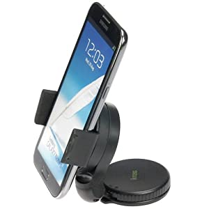 iKross Ultra Compact 2in1 Vehicle Car Windshield / Dashboard Mount For Sprint HTC One / Verizon HTC Droid DNA Android Smartphone