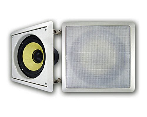 Acoustic Audio Hds8 8-Inch In Wall Kevlar Subwoofer (White)