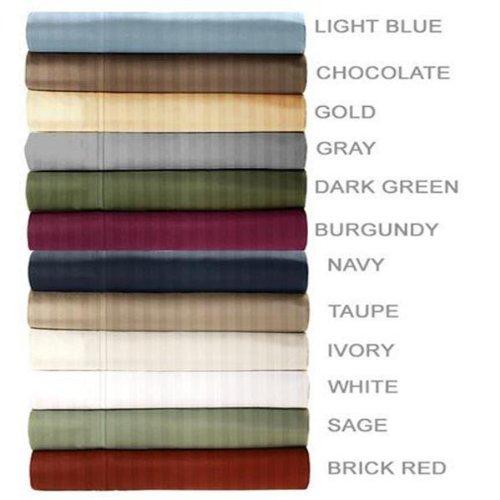 Embossed Dobby Stripe 90Gsm Microfiber Sheet Set Queen - Dark Green front-958285