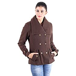 Brown double breasted wool jacket 1