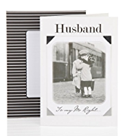 Husband Black & White Photo Birthday Card