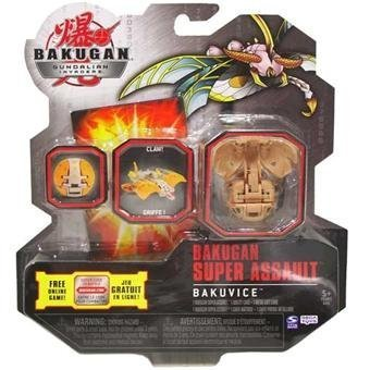 Bakugan Super Assault Gundalian Invaders New Bakuvice (Brown) Subterra LONGFLY 1150G w/DNA CODE (FACTORY SEALED) - 1