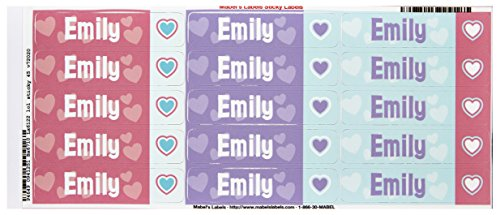Mabel'S Labels 40845134 Peel And Stick Personalized Labels With The Name Emily And Heart Icon, 45-Count front-1012804