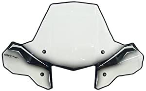 PowerMadd 24570 Cobra ProTEK Clear ATV Standard Mount Windshield with Black Graphics and Headlight Cut-out
