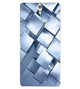 ColourCraft Beautiful Square Pattern Design Back Case Cover for SONY XPERIA C5 E5553 / E5506