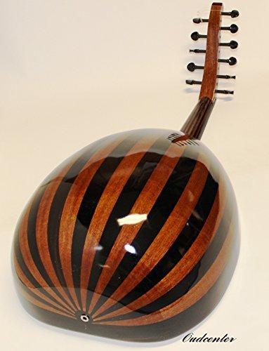 Turkish Acoustic/ Electric Oud Lute Ud 11 Strings Oriental Folk Fretless Guitar +Soft Case