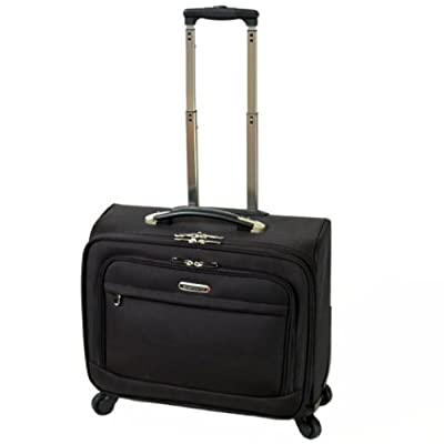 Sanpoints Laptop Trolley Case with 4 Spinner Wheels - Fits up to 17'' Laptops (Black) by Sanpoints