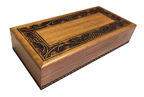 Polish Handmade Wooden Jewelry Box Linden Wood Keepsake Elegant Design (Linden Wood compare prices)