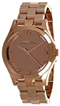 Marc by Marc Jacobs Henry Glossy Rose Gold-tone Ladies Watch MBM3212