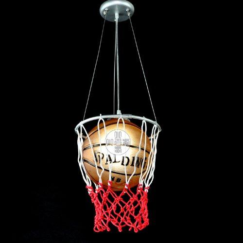 Modern Kid'S Study Room Glass Basketball/Football Pendant Light Children'S Round Bedroom Pendant Lamp (Basketball)