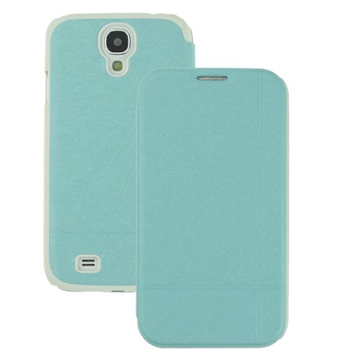 Pu Leather Folio Book Style Flip Cover Case For Samsung Galaxy S4 S Iv I9500 (Blue)