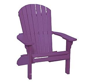 Poly Fan Back Adirondack Chair Purple