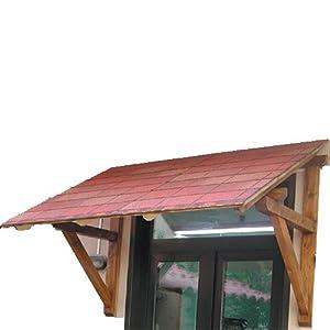 Kit pensilina in legno cm 100x180 per esterno - Tettoie in legno per esterno ...