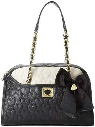 Betsey Johnson BJ25515 Top Handle Bag,Black/Marshmellow,One Size