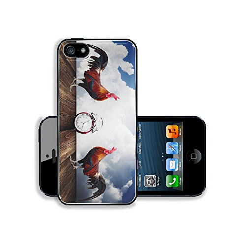Apple iPhone 5 5S Aluminum Case Wake up with rooster crows concept IMAGE 26023624 by MSD Customized Premium Deluxe Pu Leather generation Accessories HD Wifi Luxury Protector (Rooster Wi Fi compare prices)