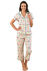 BedHead Paparazzi Stretch Crop Made in USA Pajama Set