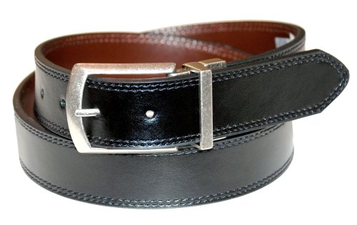 Dickies Men's 35mm Reversible Belt, Black/Brown, 34