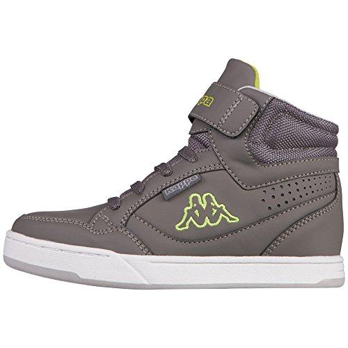 kappa-forward-mid-kids-sneakers-basses-mixte-enfant-gris-grau-1333-anthra-lime-taille-38
