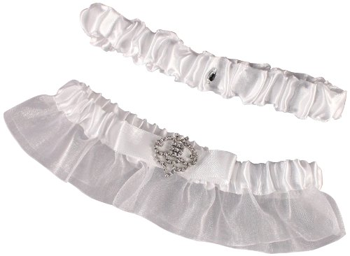 Weddingstar Beverly Clark The Crowned Jewel Collection Garter Set, White