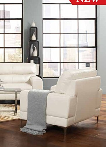 Coaster Home Furnishings 503819 Casual Loveseat, White/White