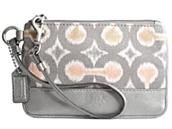 Coach Kristin Ikat Wristlet Wallet Bag Case - Coach 45375GRY