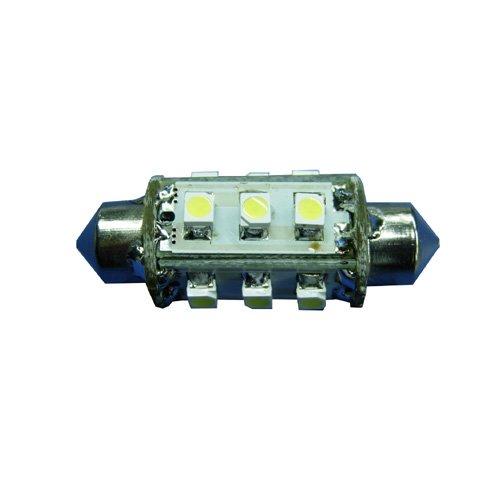 Ledwholesalers High Power 12-Led 37Mm Festoon Bulb, Warm White, 1416Ww