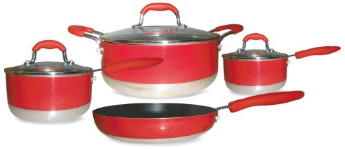 => Gourmet Chef Induction Ready 7-Piece Non-Stick Cookware
