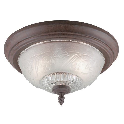 Westinghouse 64316 - 2 Light Sienna Ceiling Flush Mount Light Fixture