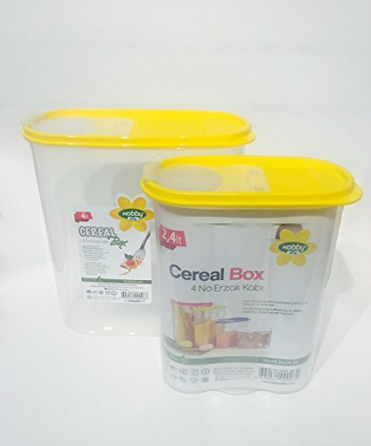 set-of-2-yellow-color-flexible-lid-cereal-and-dry-food-container-with-snap-set-4lt-135oz-and-24lt-81