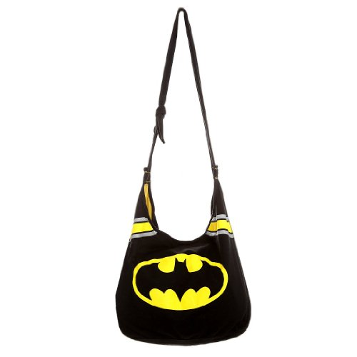 Batman Logo Black Hobo Handbag